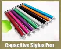 Wholesale Stylus For Galaxy S4 - touchscreen capacitive pen screen stylus pen fit for samsung s3 s4 galaxy note 2 3 iphone ipod light pen colorful freeshipping STY002
