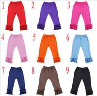 çocuklar renginde tozluklar toptan satış-2019 Kızlar Pamuk Ruffles bebek Tayt Pantolon sıkı Toddlers 1-7Y çocuklar butik Giyim çocuk butik giyim Cosplay Legging Tayt