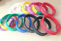 Wholesale Health Balance Bracelet - On Sale - Energy Silicone Bands Balance Sport Health Bracelets Writstbands , Mix Color , M Size , Free Shipping