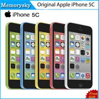 Wholesale apple iphone 5c online - Original Refurbished Unlocked Apple iPhone C Cell phones GB GB dual core WCDMA WiFi GPS MP Camera quot Smartphone US Version