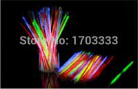 Wholesale Cheap Glow Sticks Wholesale - Cheap 3500pcs lot 5 colors mixed 8inches(5*200mm) glow stick glow bracelet light up bracelet for dj party club