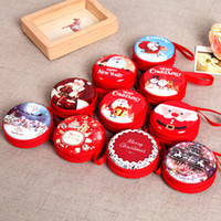 Wholesale Christmas Candy Gift Boxes - Cute Christmas Candy Boxes Bag Gifts Holders New Year Coin Earphone Snack Supplies Packaging Party Decorations For Children 171029