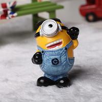 Wholesale Minions Sale Stuff - Hot Sale Children CuteToys Despicable Me Character Kids Stuffed Toys Minions Resin Decoration For Table Size:6*5*8cm 4pcs lot T1308