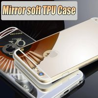 Wholesale Protective Covers Chrome - Luxury Mirror Electroplating Chrome soft TPU Case Dustproof Shockproof Protective Cover For iPhone se 5S 6 Plus 6s GALAXY S6 Edge S7 note5