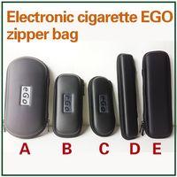 Wholesale Ego Carry Mt3 - Ego Cases Zipper Bag Leather Long Pouch Carry Box E Cigarettes Carrying Case for Evod CE4 CE5 MT3 Protank Vaporizer Pen Starter Kit