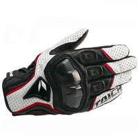 Guanto moto in pelle RS Taichi Perforate Protezione in fibra di carbonio Motocross Guantes Moto Cycling Gear Estate per uomo donna