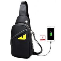 mens telefon poşetleri toptan satış-Yeni erkekler oxford göz Crossbody messenger tasarımcı çanta göğüs paketi erkek moda seyahat rahat telefon büstü çantalar siyah / gri / kamuflaj siyah