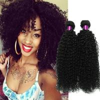 vente de cheveux ondulés achat en gros de-Cheveux bouclés brésiliens tisse des cheveux brésiliens malaydiens péruviens naturels Wavy Hair Weaves tisse des extensions ondulées de Jerry Curly en vente
