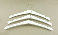 Wholesale Cloths Hanger Clips - Luxury White Beech Wooden Cloth Hanger,Top Grade Dress Hanger with Notches