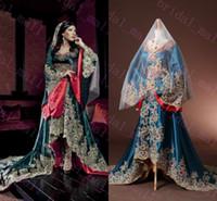 Wholesale Taffeta Line Appliqued Dress - Real Picture 2015 Dubai Kaftan Appliqued Long Evening Gowns Caftan Abaya In Dubai Long Sleeve Arabic Dress Muslim Evening Dress