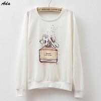 Wholesale Rabbit Hoodie For Women - FG1509 [Ada] Hot design pictures print hoodies bottle cat Rabbit thin style hoodie sweatshirts for Women good cotton sweatshirt