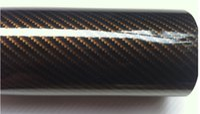 Wholesale Mirror Gold Vinyl Wrap - 2D Carbon Fiber Car Wrapping Film Automobile Modified Film Car Wrapping Film Car Stickers Size:0.5M*1.52M black gold