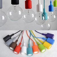 Wholesale Cord Bright - 13 Colors E27 Silicone Lights Bright Colors Kids Room Edison Style Chandelier