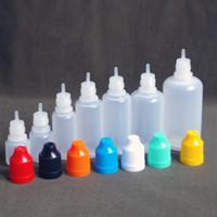 5ml garrafa de ponta de agulha e suco venda por atacado-Frascos de líquido E PE agulha de agulha de suco de e-mail Garrafa de conta-gotas de plástico 5ml 10ml 15ml 20ml 30ml 50ml Garrafas de óleo vazias de tampão para crianças