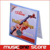 Wholesale Violin Top - Alice A703 Violin Strings Steel Core Super Light Set for 1 8 4 4 Size Violin 4pcs set Top Quality MU0259