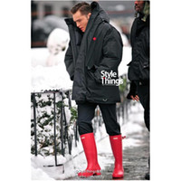 Wholesale Tall Canvas Shoes - Men Women RAINBOOTS Fashion Knee-high Rain Boots Waterproof Welly Boots Rubber Rainboots Water Shoes Rainshoes Tall