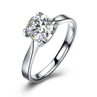 0.8 CARAT PRINCESS CUT SIMULATED DIAMOND STERLING Solid 925 SILVER ENGAGEMENT RING JEWELR