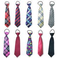 corbata para niños al por mayor-Chicos lindos, niñas, color, elástico, ajustable, corbata, niños, corbata, estampado, niños, corbata, corbatas, corbata, uniformes escolares, conjunto