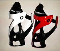 цилиндрическая водная бутылка черного цвета оптовых-BLACKBURN углерода Бутылка Кейдж дорожного велосипеда держатель бутылки воды MTB Горный велосипед Полный Carbon Fiber Сепараторы Велоспорт аксессуары Красный Черный Белый