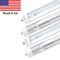 T8 8FT 45W LED Tube Light, Single Pin FA8 Base, 6000K Cold White, 8 Foot Fluorescent Bulbs 90W Replacement, Clear Cover, Dual-Ended Power