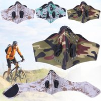 Wholesale anti pollution ski face mask resale online - Anti pollution PM MTB Bicycle Mask Face Protector Outdoor Sport Magic fasten Face Mask Windproof Cycling Riding Skiing Gear