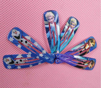 Wholesale FREE Frozen Children Hair Accessories Baby hair clip Anna Elsa Princess Hairpin Ornament BB Clamp Hair Clips Childrens Hairclips