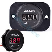 Wholesale 12v 24v Voltmeter - 2014 New Automobile Motorcycle DC 12V to 24V LED Digital Outlet Plug Voltmeter Socket Free Shipping SV07 SV007102