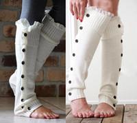 calcetines para niñas al por mayor-7 niñas de encaje de color de banda de la raya calcetines Leggings 2016 NUEVAS muchachas encantadoras de encaje de algodón Ruffles Legging brazo pierna calentadores calcetines B