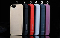 ultra ince s5 kılıf toptan satış-Lüks Ultra ince MOTOMO Metal Alüminyum Alaşım Kılıf Sert Arka Kapak iphone 6 6 s 6 artı 5 5 s Samsung s6 Kenar Artı S5 Note5 Note4 Note3