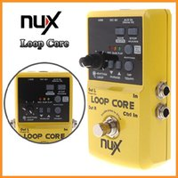 Wholesale Recording Drums - NUX Loop Core Violao Guitar Electric Effect Pedal 6 Hours Recording Time Built-in Drum Patterns Musical Instrument Parts