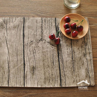 Wholesale Wood High Table - Wholesale- be Home High Quality Japan Style Cotton and Linen wood grain decorative placemat for table