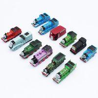 Wholesale ma year - Tho mas and Friends figures Tho mas Mini Trains PVC Figure Toys 12pcs lot 6CM Kids Toys Free Shipping