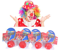 Wholesale Sponge Nose Nose Clips Nose Smaller Clown New Fun Red Sponge Clown Noses for Circus Halloween Carnival Party Favors Clown Noses Show Time