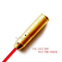 Wholesale Laser 7mm - 243 308 Win. 7.62x51 mm 7mm-08 Rem.Cartridge Red Laser Bore Sight Boresighter Brass 1pc