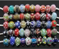weihnachten murano perlen großhandel-Murano Glasperlen Charms für Pandora Armband Mix Colors Großhandel lose Perlen Weihnachtsverkauf