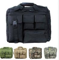 Wholesale Laptop Hand Bag Briefcase Messenger - 15.6 15 inchs Laptop Advanced Tactical Messenger Side Trip Hand Computer Briefcase Side Shoulder Bag Multicam Outdoor