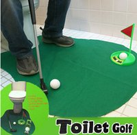 Nuevo Exotic Leisure Sports Toy Alta Calidad Potty Putter Toilet Juego de Golf Mini Golf Set WC Golf Putting Green