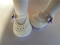Wholesale crochet flats shoes for sale - Group buy 2016 handmade crocheted baby Infants Crochet Knit shoes Socks infant Newborn exclusive oddlers Booties Soft Sole Flats M customize