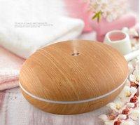 humidificador emf al por mayor-350ml nueva caja mágica Mini aroma difusor de lámina de madera del difusor del aroma 4colors de mini humidificadores para uso en el hogar