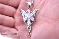 Compra Ciondoli Diamonique-011 Nizza LOTR placcato oro Arwen Evenstar White Sapphire Collana Diamonique