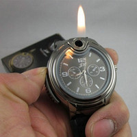 Wholesale brand cigars - 2015 Military Lighter Watch Novelty Man Quartz watches Sports Refillable Gas Cigarette Cigar Men's Watches Luxury Brand Gift Retail Box