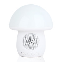 Wholesale Table Lamp Led Type - T6 Cute bluetooth speaker with LED Light Touch Control mushroom type Table Lamp For Bedroom 010100