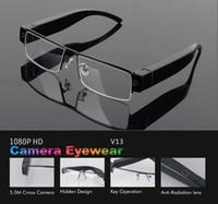 Wholesale eyewear mini camera for sale - 1080P Glasses camera portable auio video recorder Full HD glasses mini dvr V13 eyewear camera support TF card