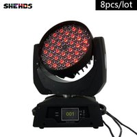 8pcs / lot LED Wash Moving Head luce 108X3W RGBW LED Stage Lighting DJ Disco Lighting DMX Sound Stage professionale luce per eventi / matrimonio