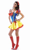 Wholesale Belle Adult Costume - sexy adult princess belle costume Enchanting Snow Princess Costume LC8301 Halloween woman costume clothes