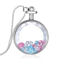Wholesale Cheap Floating Charms Lockets - Floating Beads Lockets Necklace Glass Lockets Charms Pendant Cheap Fashion Jewelry Gift for Women Girl Chirldren Wholesale YH-N-018