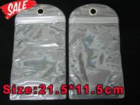ingrosso caso di plastica dura impermeabile-Pacchetto di imballaggio al minuto di plastica impermeabile della chiusura lampo del PVC 21.5 * 11.5cm per I casi di cuoio duro di Samsung Galaxy S3 S4 S5 S7 di Iphone X 7 8 6 6S