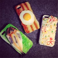 """Wholesale Harajuku Case - IPhone6 following 5 s harajuku personality 4.7 """"3 d stereo poached egg shell food cases"""