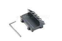 luzes de rifle laser venda por atacado-Caça Airsoft Airsoft 45 Graus Offset 20mm Rail Mount 4 Slot para Rifle Tecelão Picatinny Flash Light Laser
