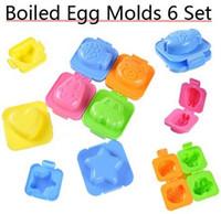 Wholesale Egg Rice Mould - 6pcs lot Plastic Egg mould Sushi Mold Rice Mold Jelly mould cute car fish bear rabbit designs